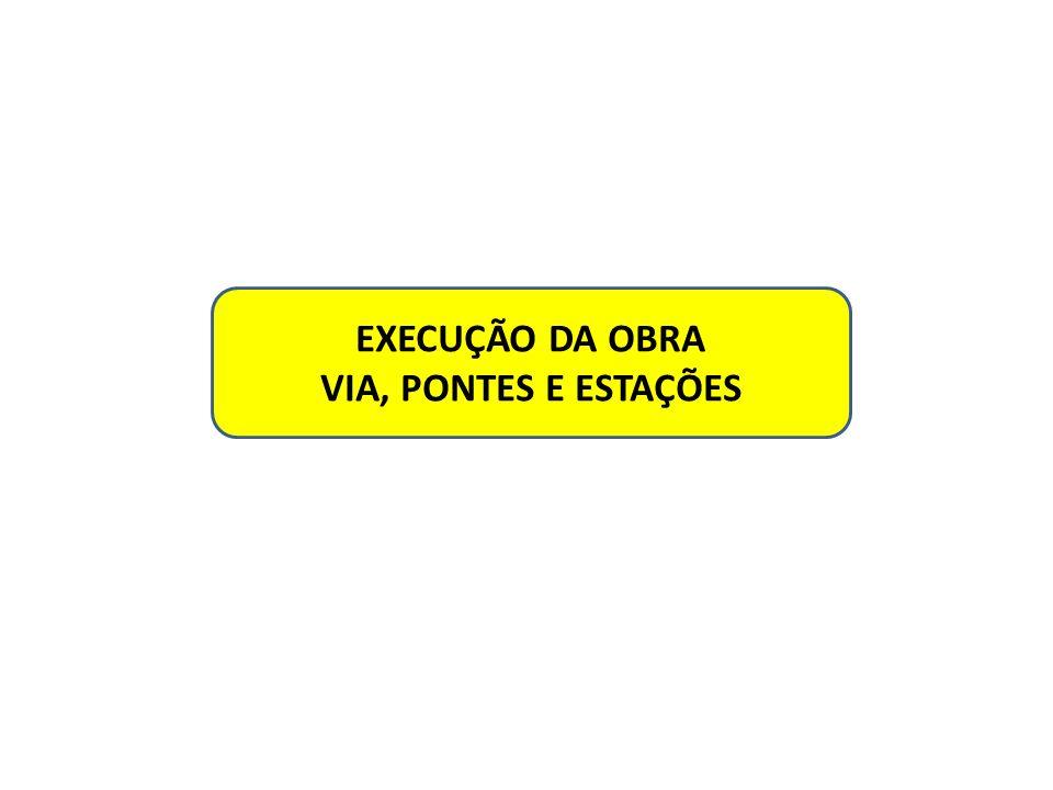 EXECUÇÃO DA OBRA VIA, PONTES E ESTAÇÕES