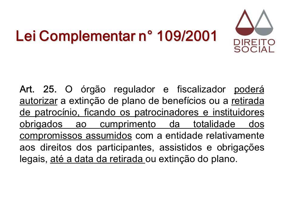 Lei Complementar n° 109/2001