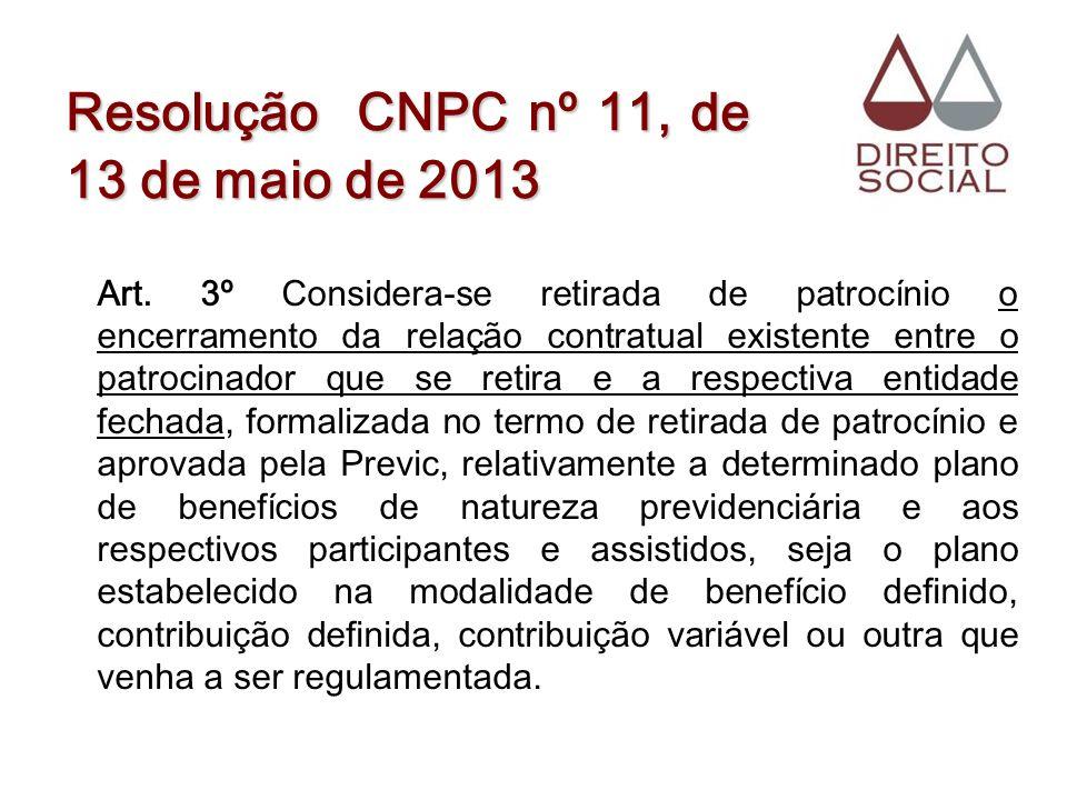Resolução CNPC nº 11, de 13 de maio de 2013