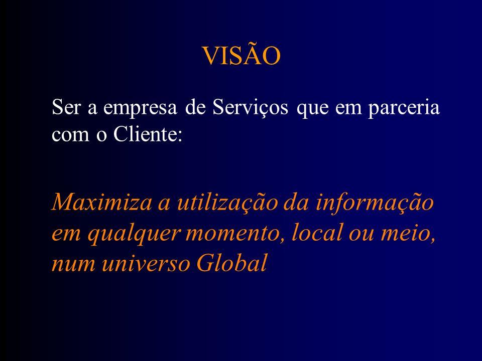 23-03-2017VISÃO. Ser a empresa de Serviços que em parceria com o Cliente: