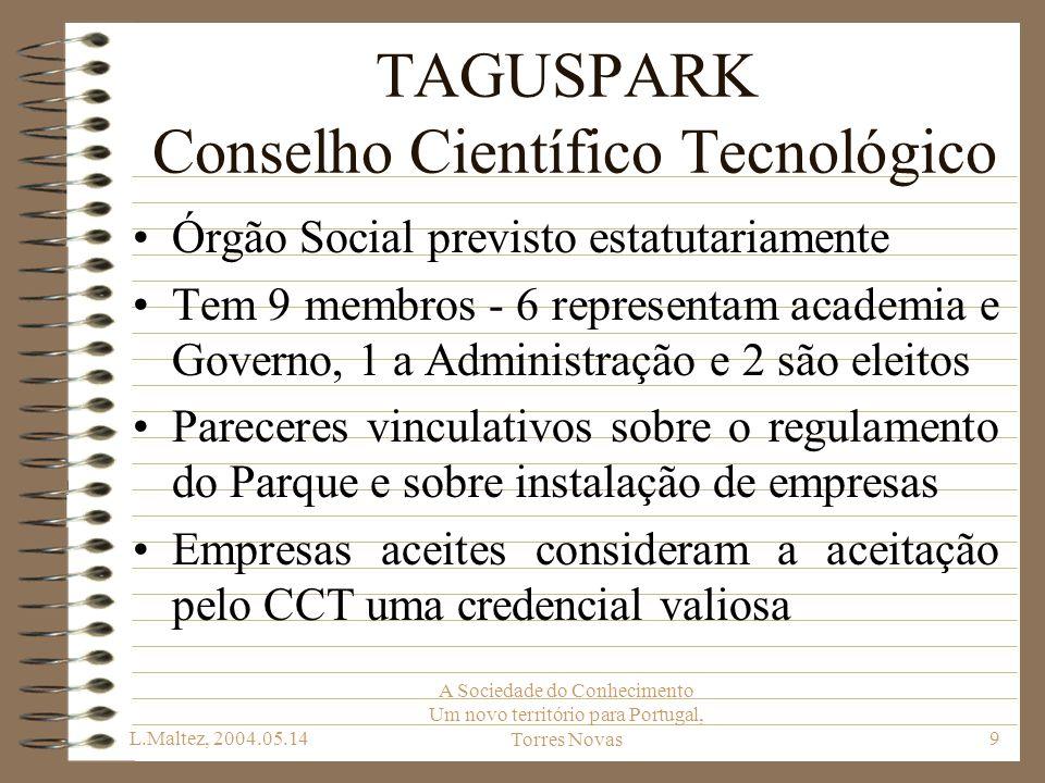 TAGUSPARK Conselho Científico Tecnológico