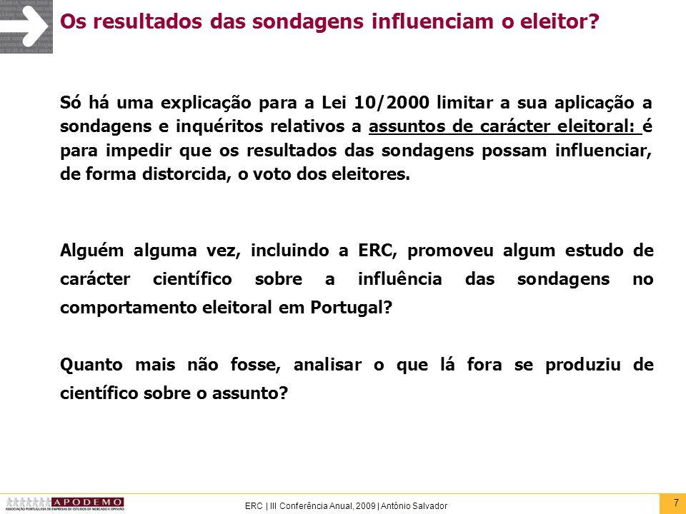 Os resultados das sondagens influenciam o eleitor