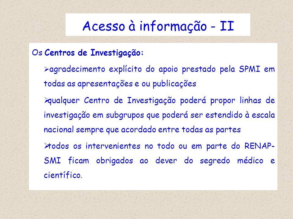 Acesso à informação - II