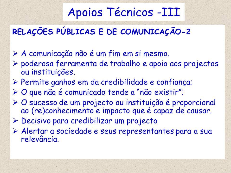 Apoios Técnicos -III RELAÇÕES PÚBLICAS E DE COMUNICAÇÃO-2