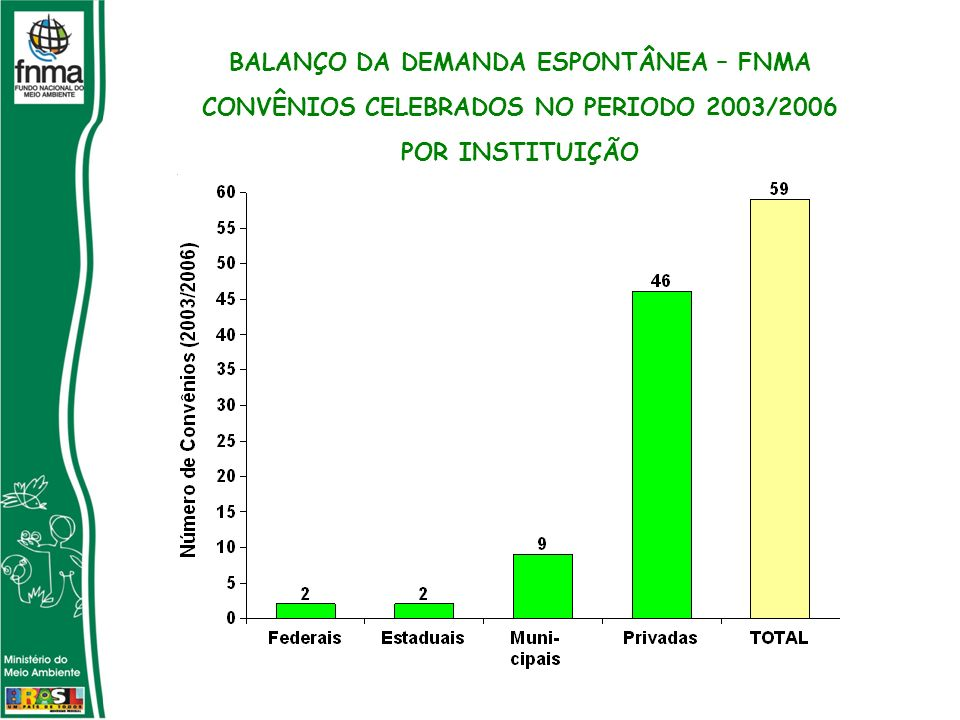 BALANÇO DA DEMANDA ESPONTÂNEA – FNMA