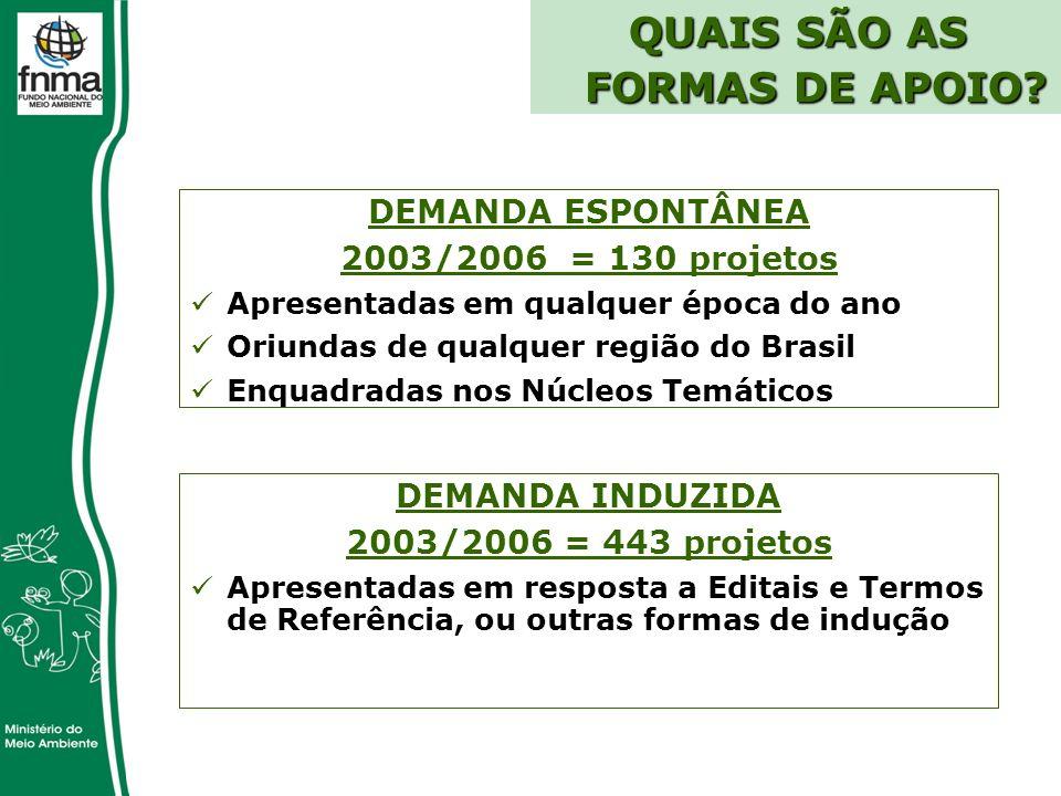 QUAIS SÃO AS FORMAS DE APOIO