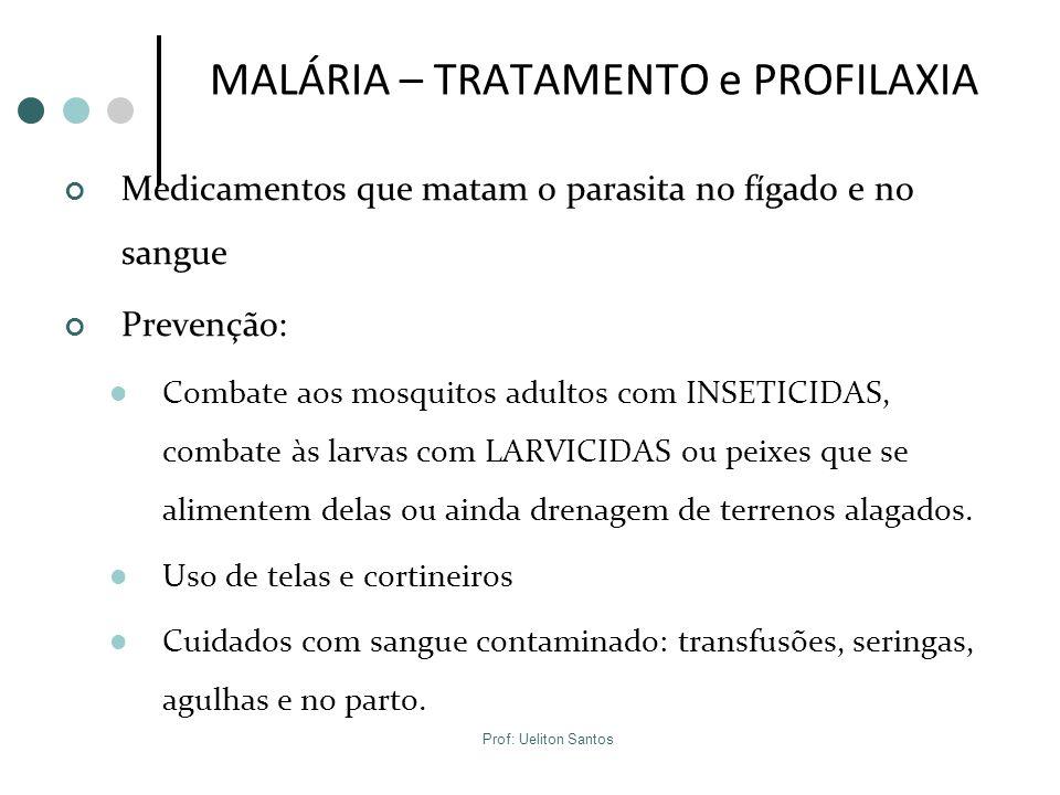 MALÁRIA – TRATAMENTO e PROFILAXIA