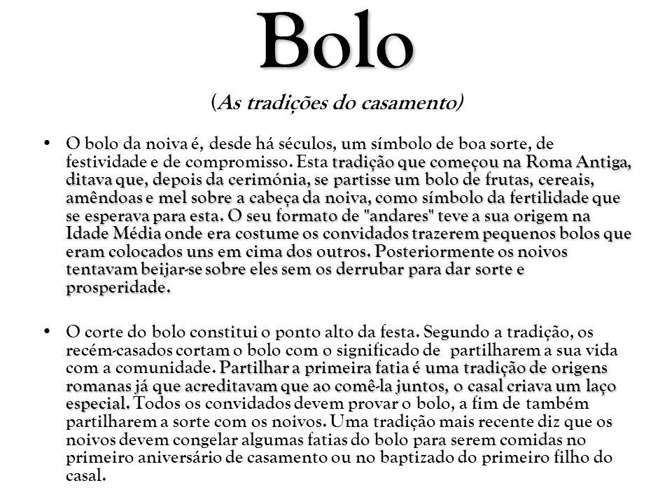 Bolo (As tradições do casamento)