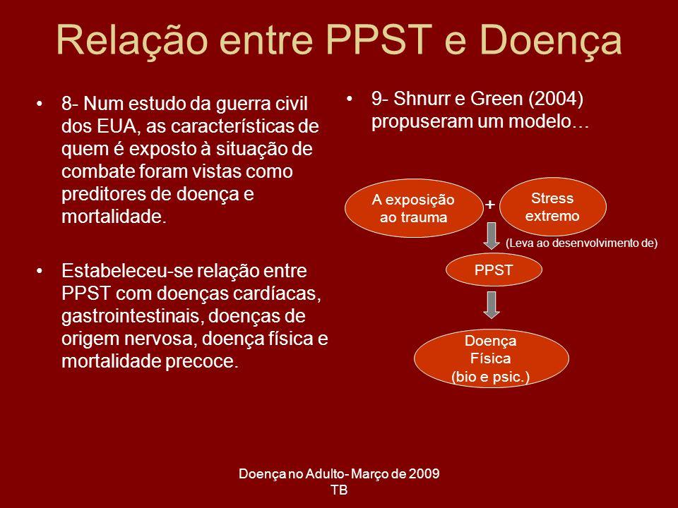 Relação entre PPST e Doença