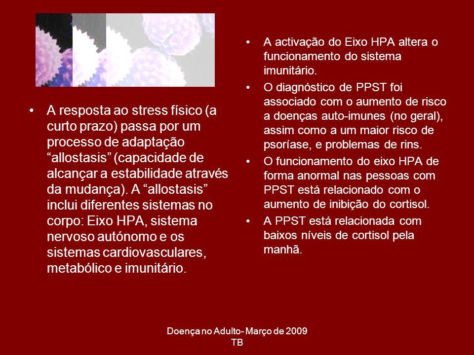 Doença no Adulto- Março de 2009 TB