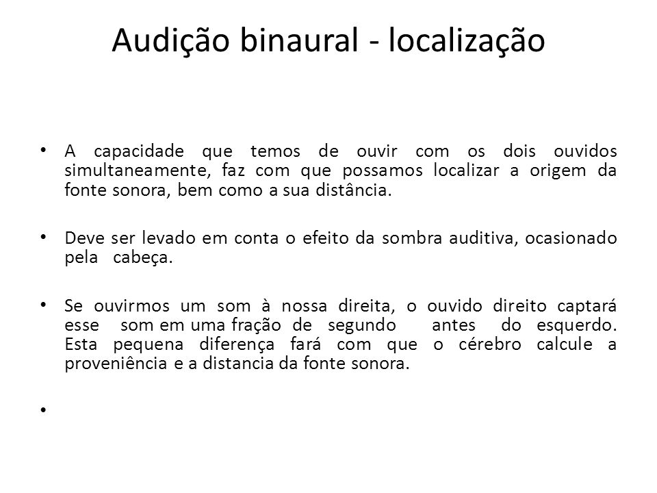 Audição binaural - localização