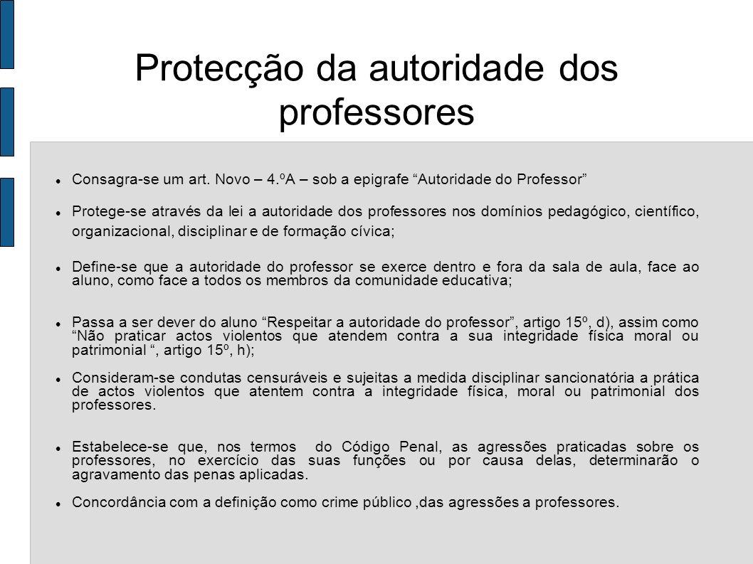 Protecção da autoridade dos professores