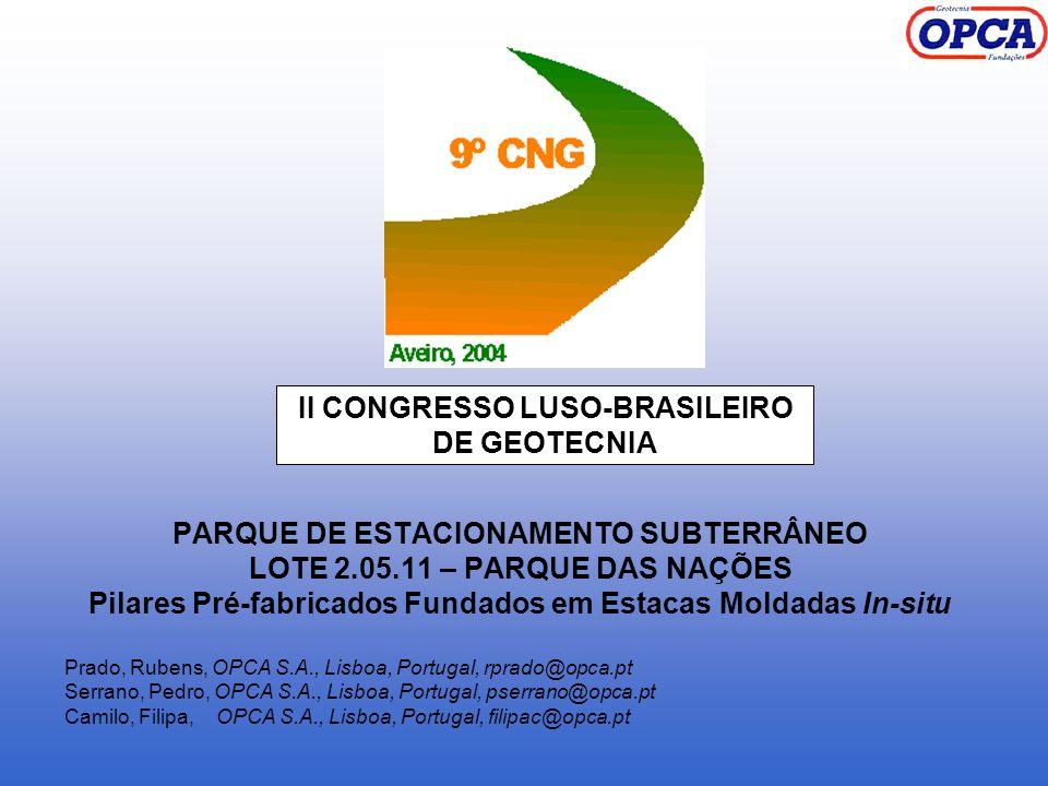 II CONGRESSO LUSO-BRASILEIRO DE GEOTECNIA