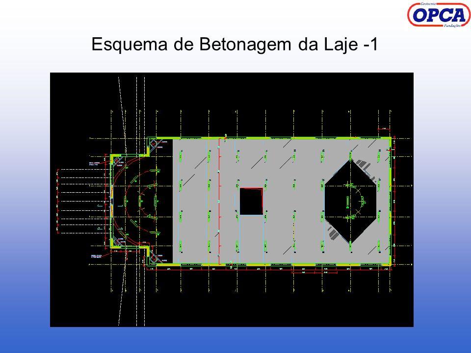 Esquema de Betonagem da Laje -1