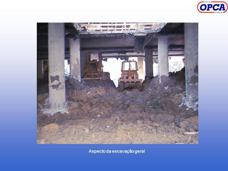 Aspecto da escavação geral