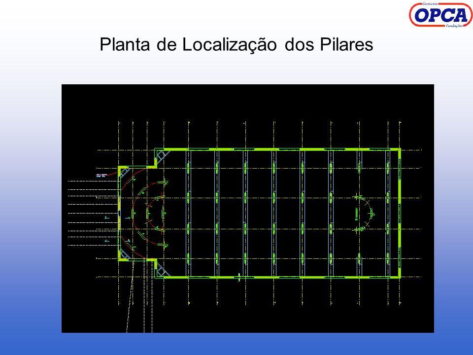 Planta de Localização dos Pilares