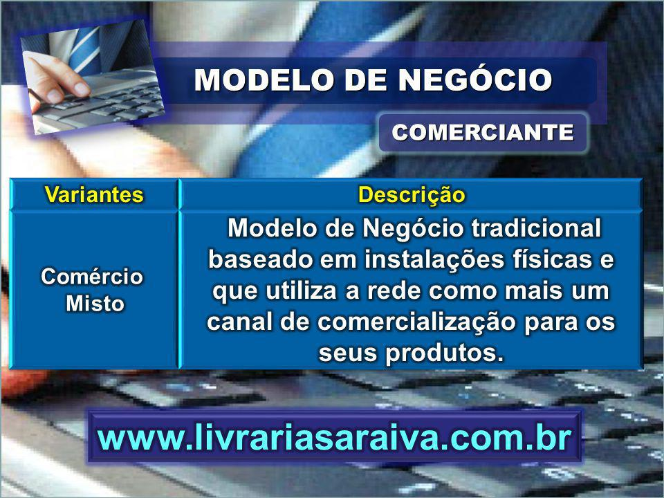 www.livrariasaraiva.com.br MODELO DE NEGÓCIO