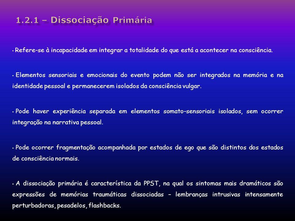 1.2.1 – Dissociação Primária