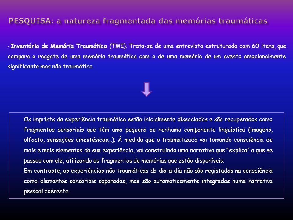 Pesquisa: a natureza fragmentada das memórias traumáticas