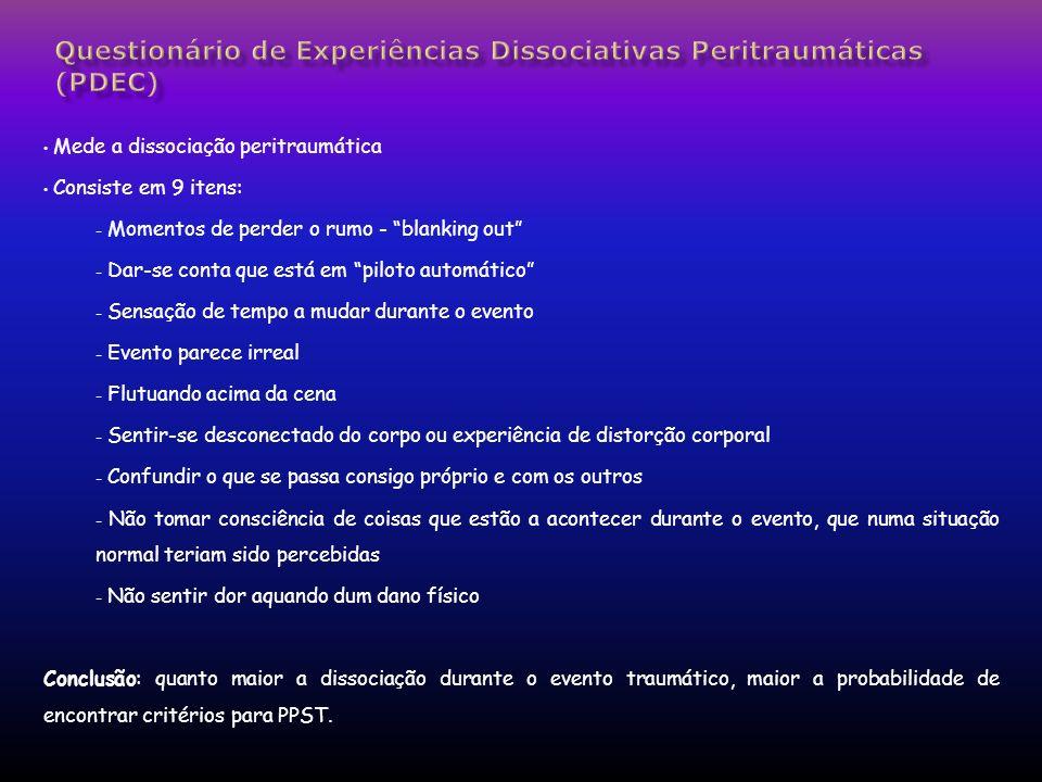 Questionário de Experiências Dissociativas Peritraumáticas (PDEC)