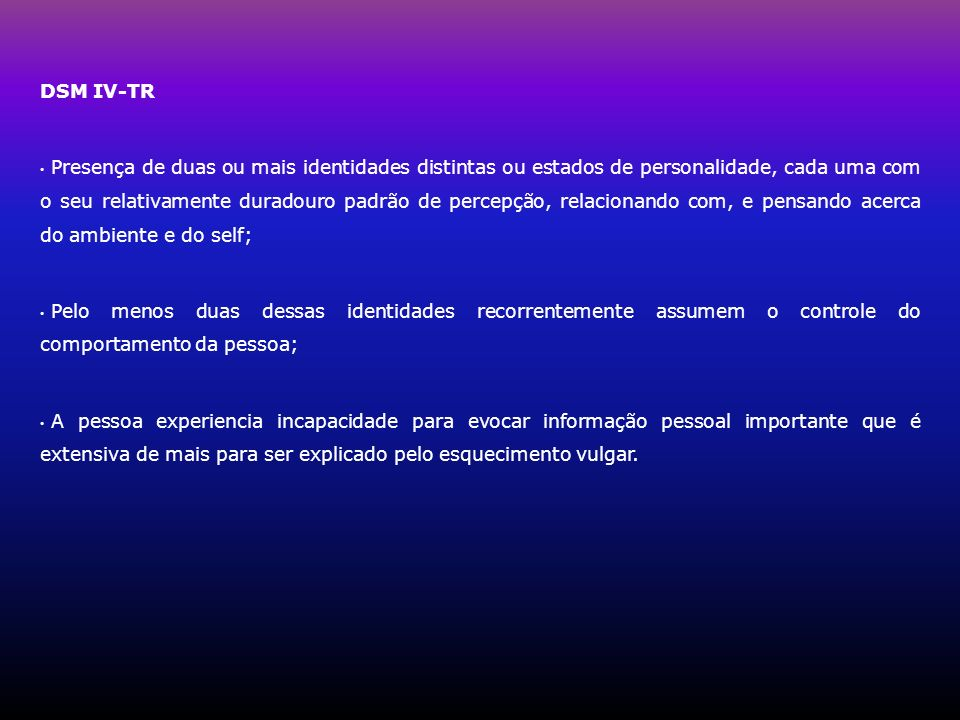DSM IV-TR