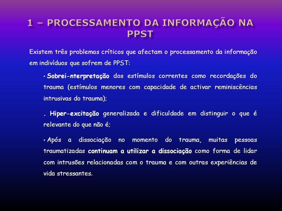 1 – processamento da informação nA pPST
