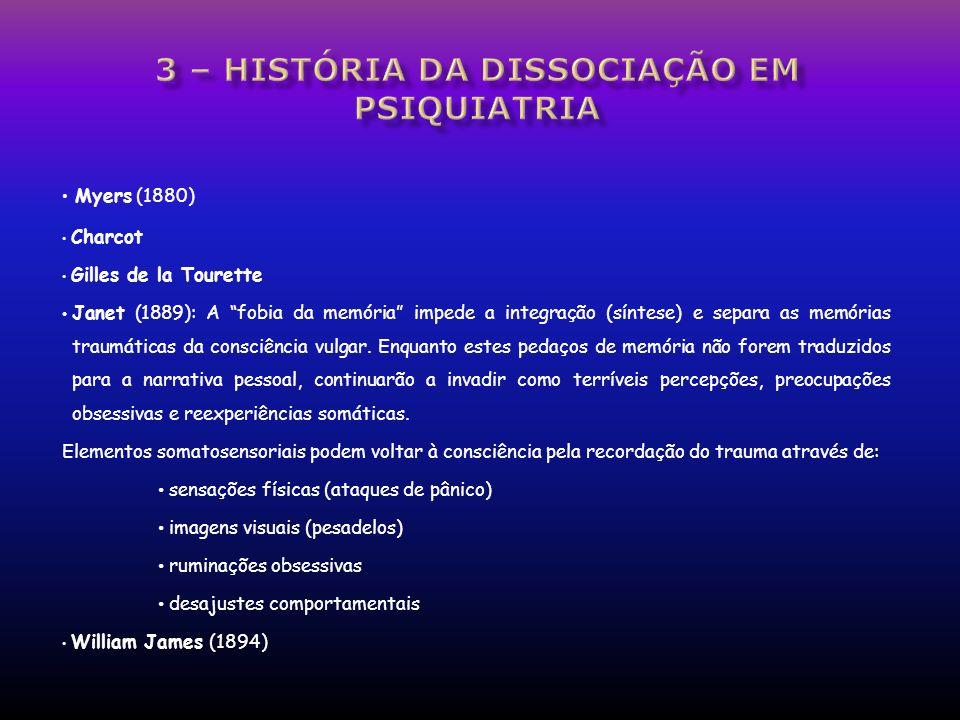 3 – história da dissociação em psiquiatria