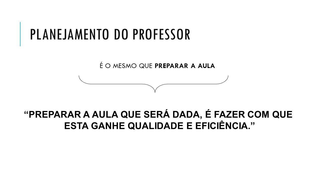 PLANEJAMENTO DO PROFESSOR