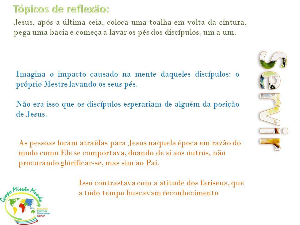 Servir Tópicos de reflexão: