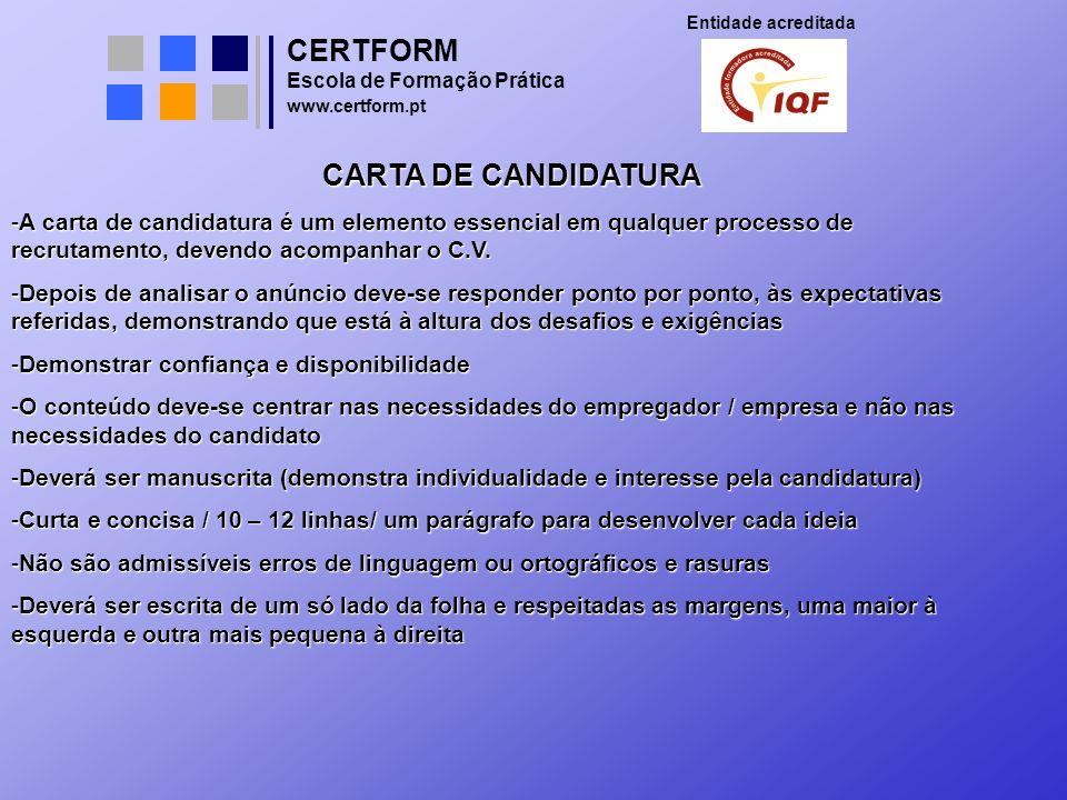 CERTFORM CARTA DE CANDIDATURA
