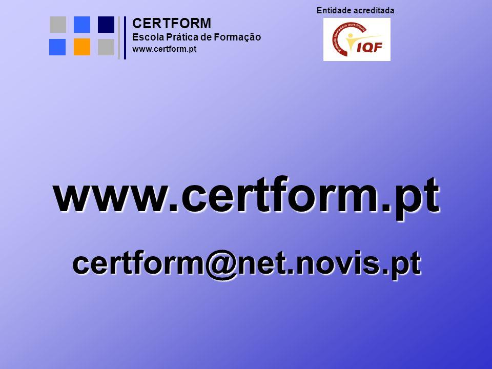 www.certform.pt certform@net.novis.pt CERTFORM