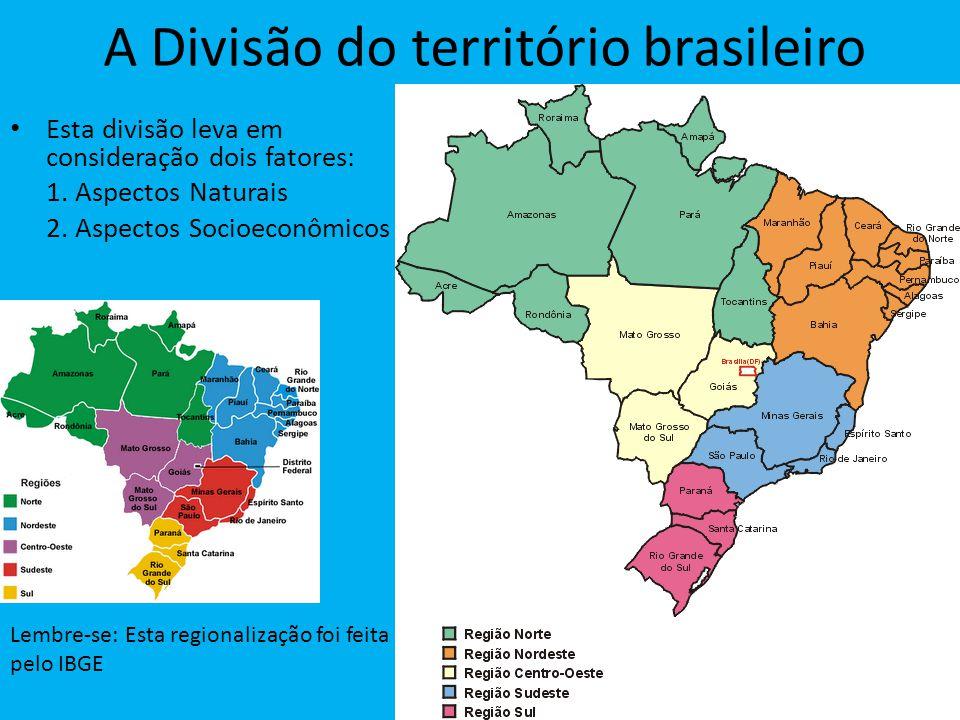 A Divisão do território brasileiro