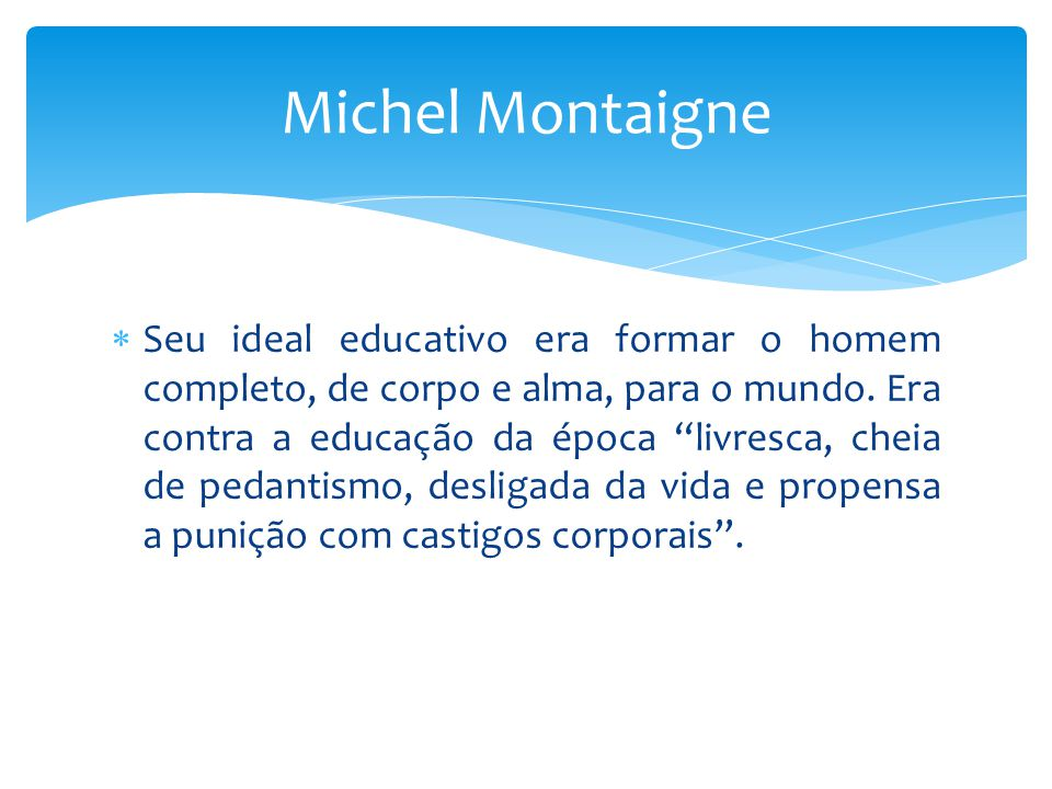 Michel Montaigne