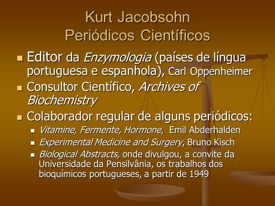 Kurt Jacobsohn Periódicos Científicos