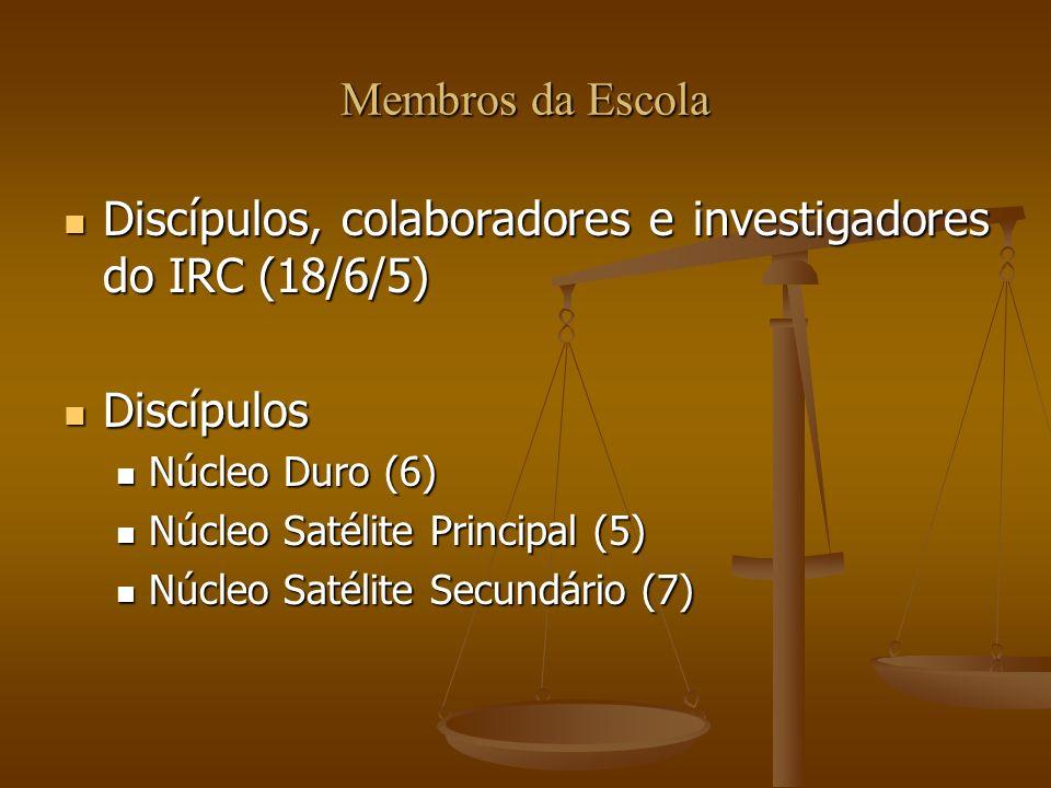 Discípulos, colaboradores e investigadores do IRC (18/6/5)