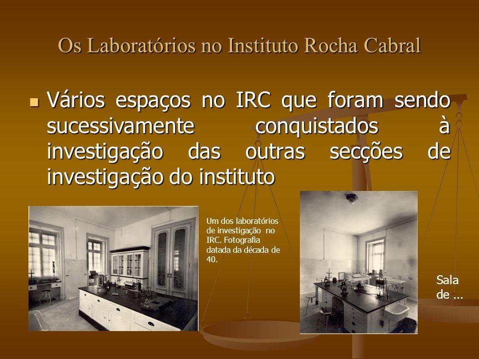 Os Laboratórios no Instituto Rocha Cabral