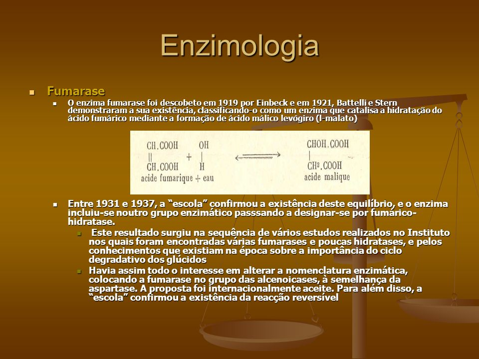 Enzimologia Fumarase.