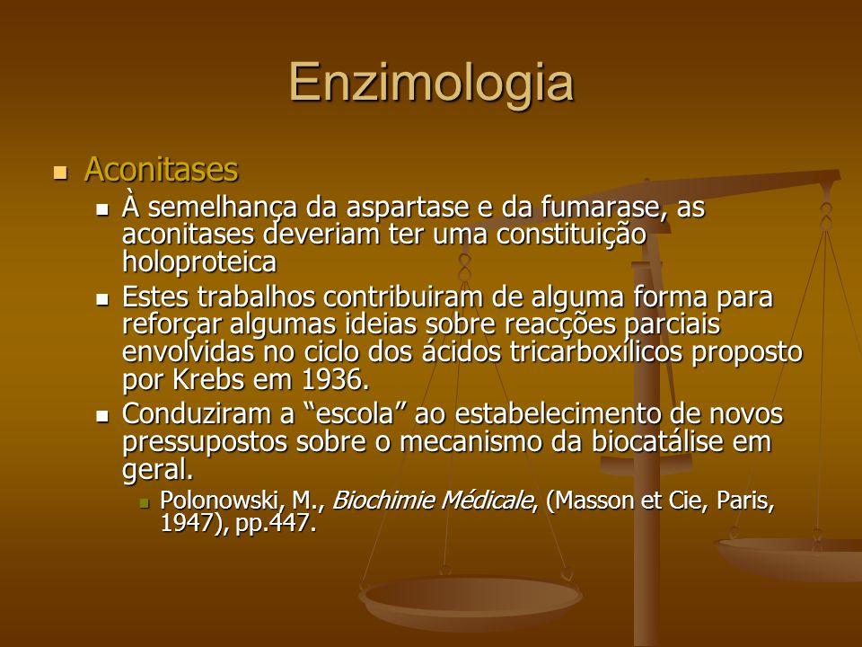Enzimologia Aconitases