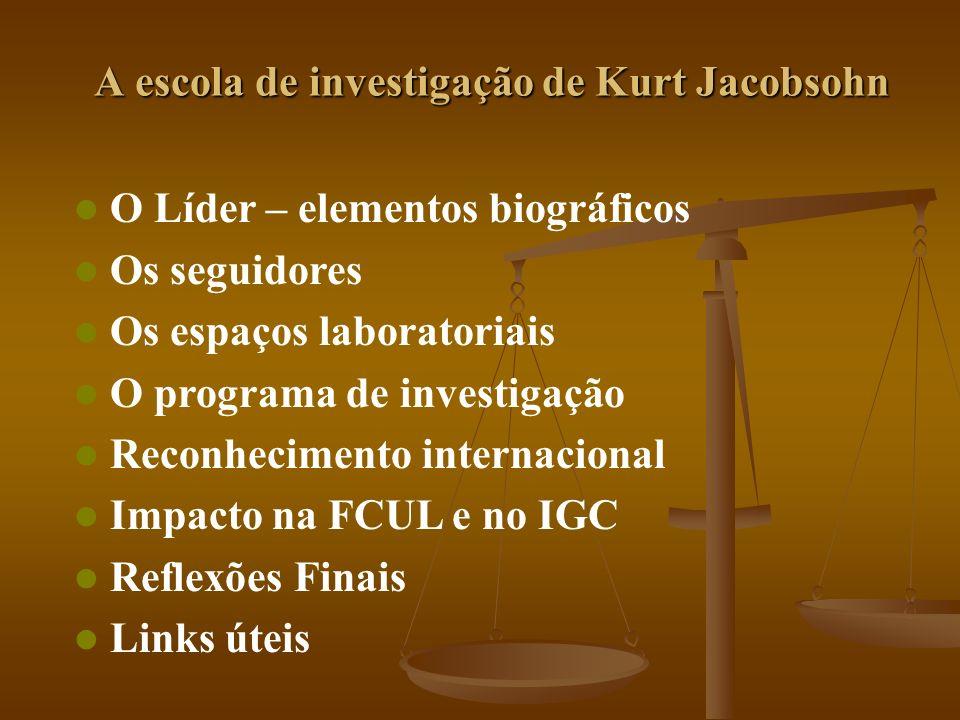 A escola de investigação de Kurt Jacobsohn