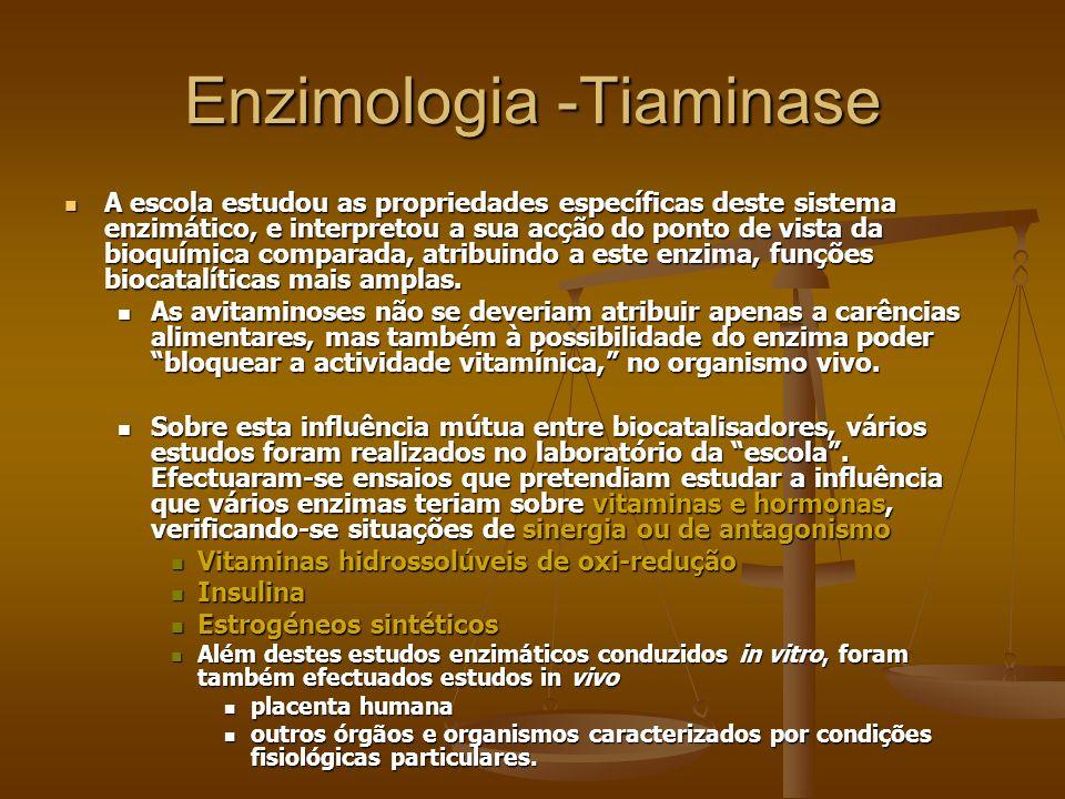 Enzimologia -Tiaminase