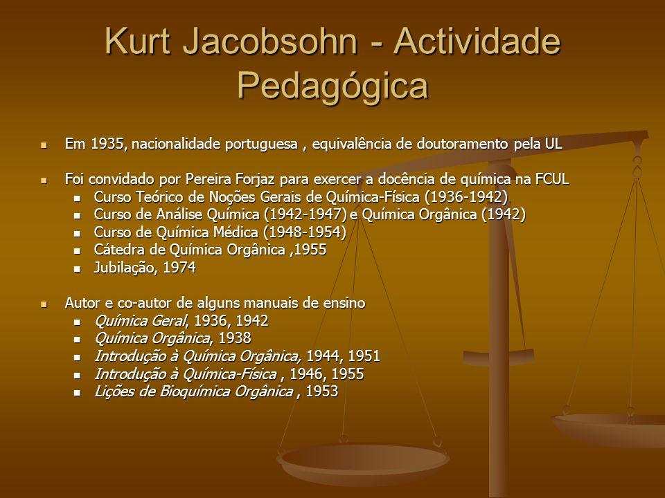 Kurt Jacobsohn - Actividade Pedagógica