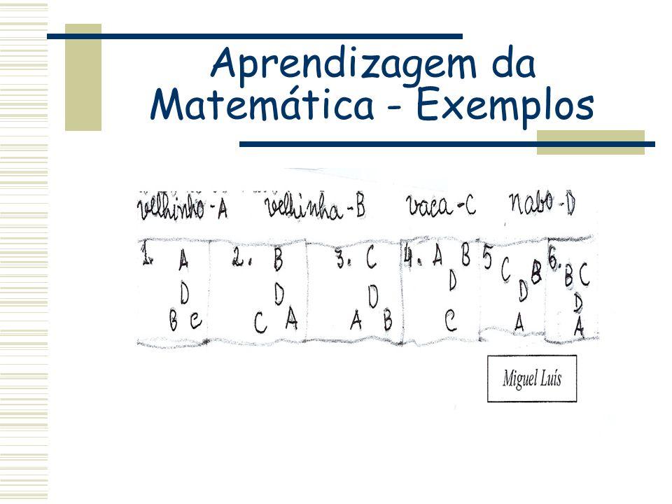 Aprendizagem da Matemática - Exemplos