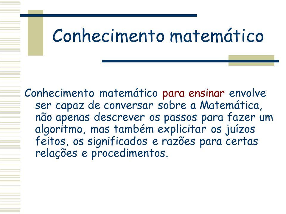 Conhecimento matemático