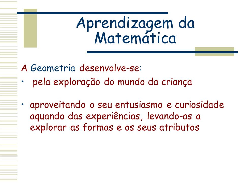 Aprendizagem da Matemática