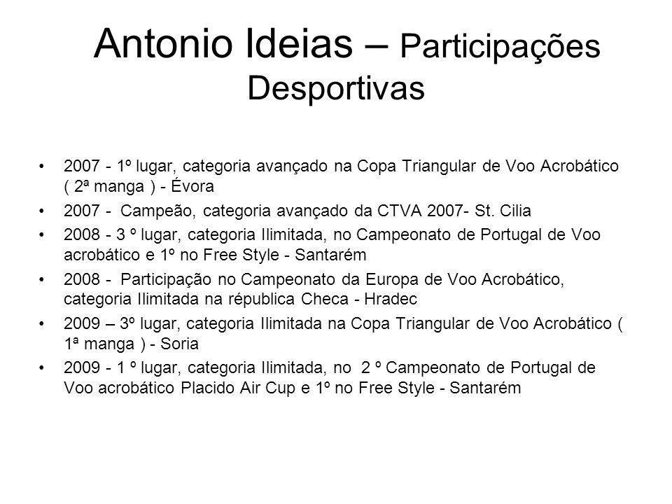 Antonio Ideias – Participações Desportivas