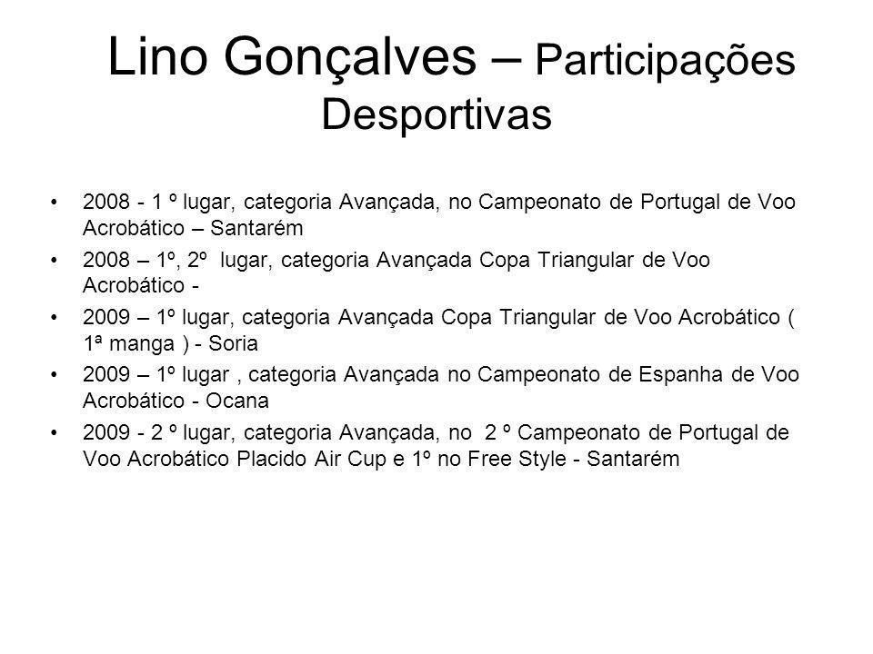 Lino Gonçalves – Participações Desportivas