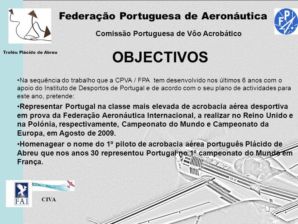 OBJECTIVOS Federação Portuguesa de Aeronáutica