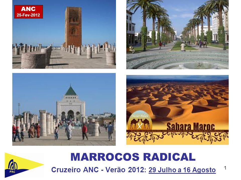 Cruzeiro ANC - Verão 2012: 29 Julho a 16 Agosto