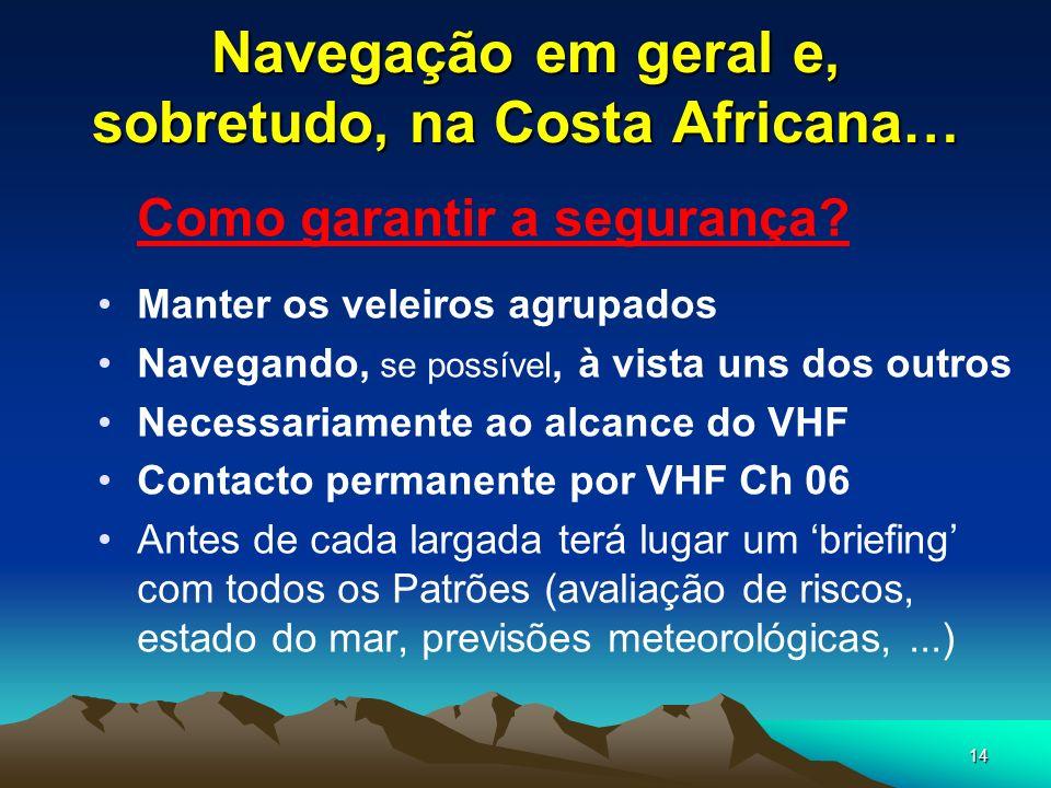 Navegação em geral e, sobretudo, na Costa Africana…