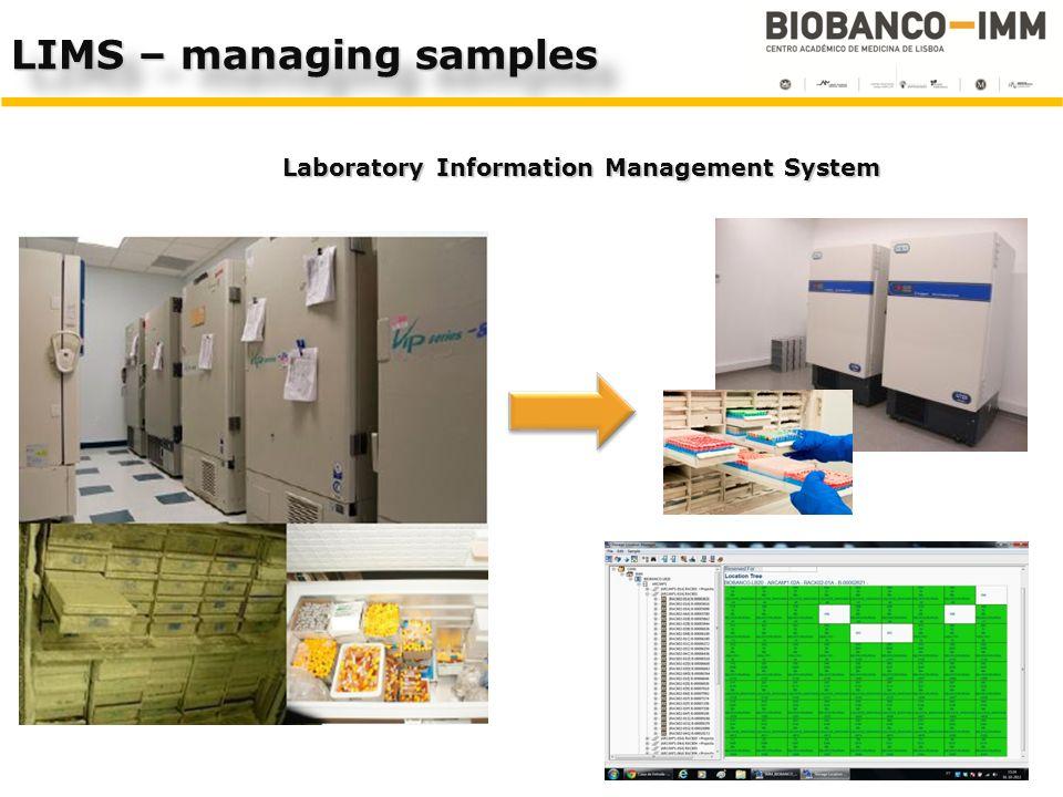 LIMS – managing samples